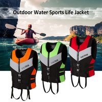 Neoprene Life Jacket Watersports Fishing Kayaking Boating Swimming Safety Life Vest Water Sports Survival Jacket Life Vest S XXL