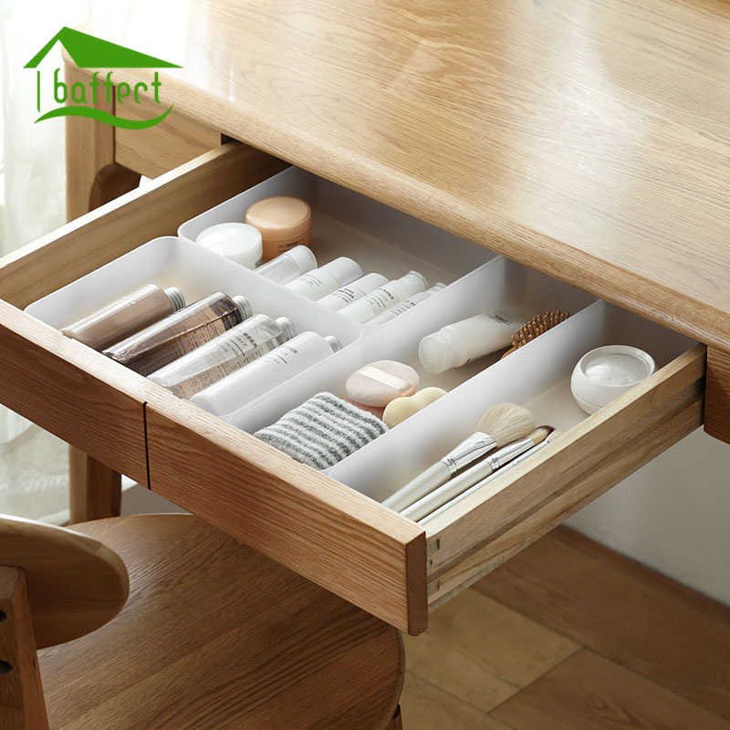 New Multifunction Drawer Organizer Frosted Plastic Storage Box Separator For Drawer Desktop Makeup Container Cosmetics Holder