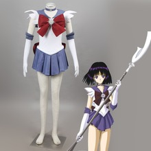 Athemis Anime Sailor Moon Sailor Saturn Cosplay Costume custom made Dress High Quality