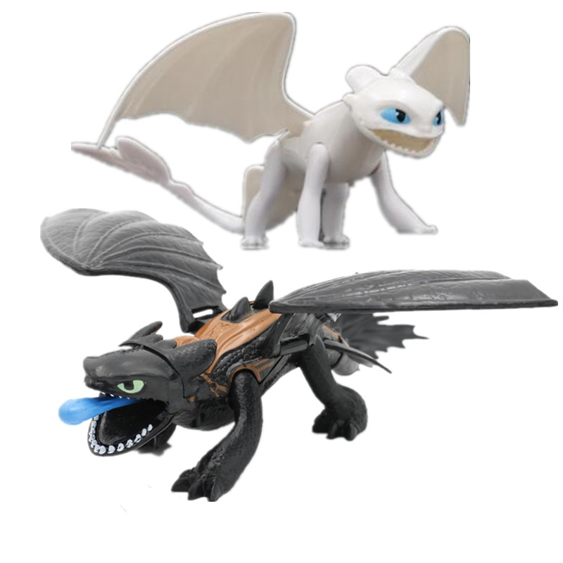 Model-Light Toy-Handle Train How Evil-Spirit Animation Your Dragon Night-Evil 3-Toothless