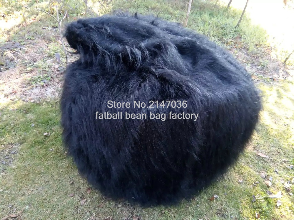 Terrific Us 78 0 Luxury Shaggy Fur Bean Bag Cover Chair Large New Bean Bag Great Xmas Gift Black Long Fur Beanbag Lounger In Living Room Sofas From Evergreenethics Interior Chair Design Evergreenethicsorg