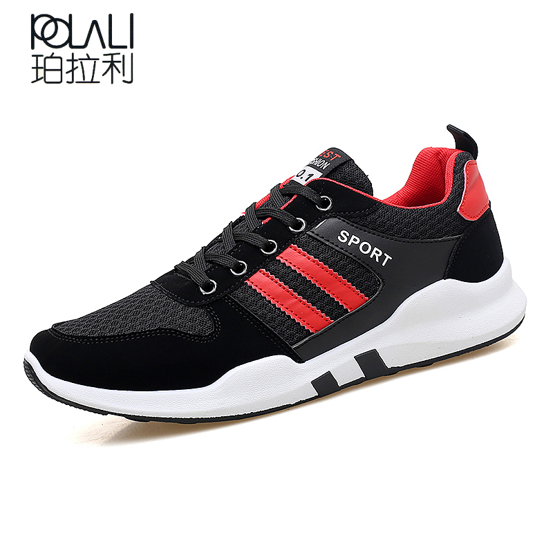 POLALI Brand Men Casual Shoes 2018 New Two Styles Fashion Mesh Breathable  Men Summer Shoes Super 71d38c6c27a