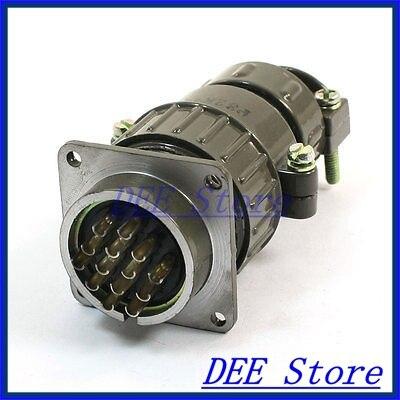 P32 14 Core 32mm 14 Pin CNC Stepper Motor Aviation Connector Plug