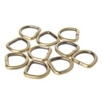 2cm Metal Handbag Leather Bag Purse Strap Belt Web D Ring Buckle Clasp 10pcs