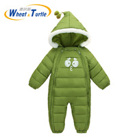 Mother Kids Baby Clothing One Pieces Rompers Infant Hooded Jumpsuit Cotton Boys Girls Playsuits Hooded Clothes Glove Shoes Suit