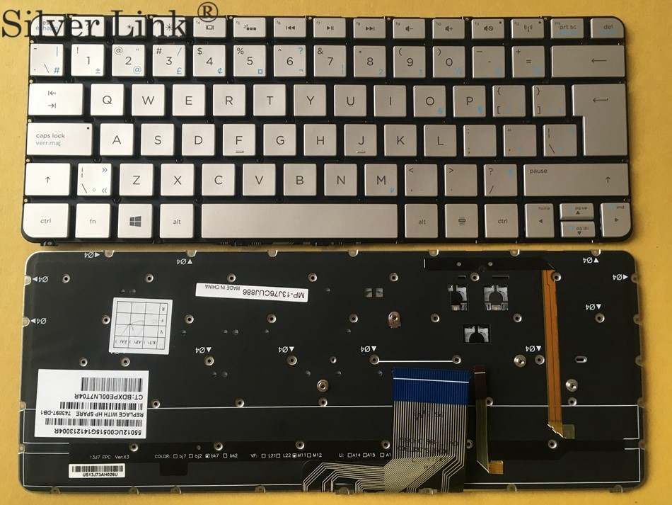 New CA Canada Backlit Keyboard For HP Spectre 13-3000 Series 743897-DB1 Laptop Keyboard