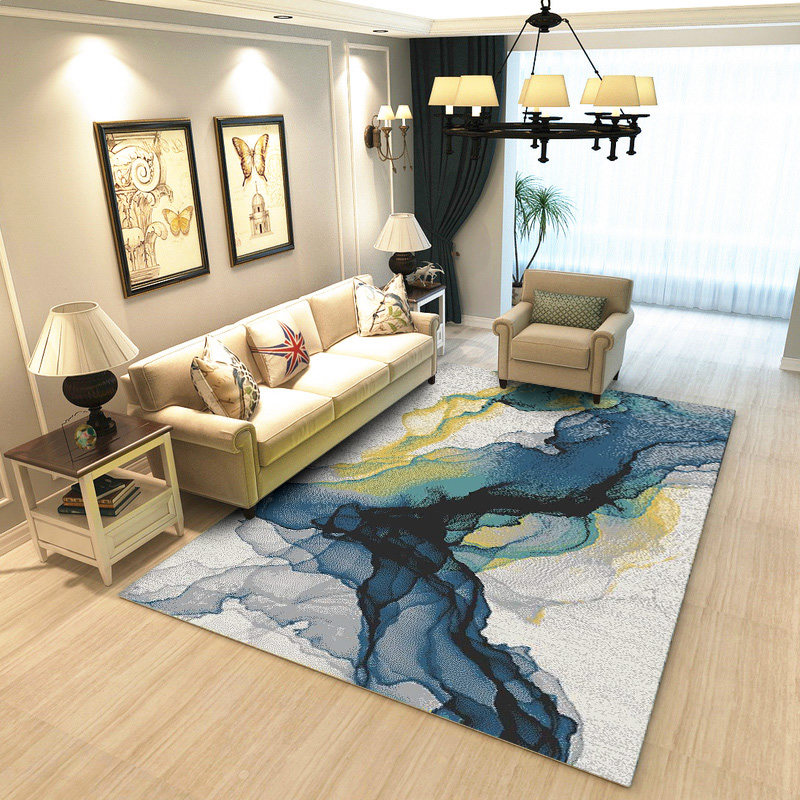 . US  36 59 47  OFF Abstract Ink Splash Carpets For Living Room Home Decor  Bedroom Carpet Rectangle Sofa Coffee Table Rug Study Restaurant Floor  Mat in