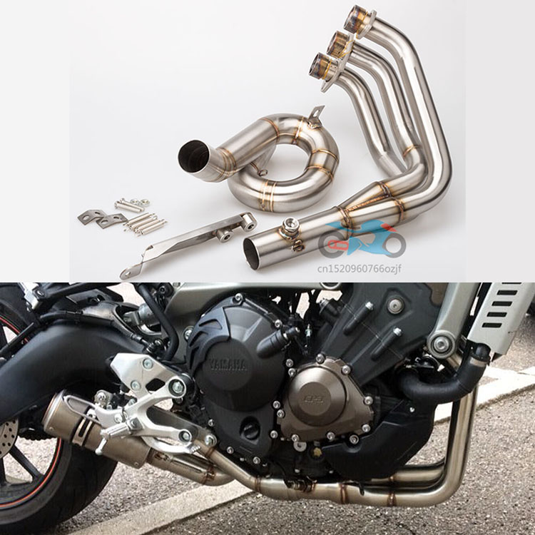 MT09 exhaust MT-09 MT 09 FZ09 FZ-09 Motorcycle Modified Exhaust Muffler Pipe Front pipe of Full exhaust system mid pipe Escape