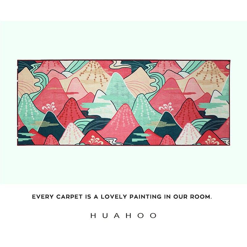 Tapis style japonais tapis par lit tapis long pour chambre décoration montagne nuage tapis rouge rectangle tapis usage domestique