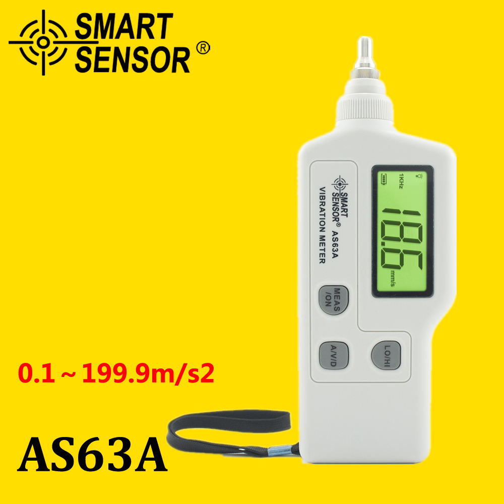 portable vibration meter Smart Sensor AS63A , acceleration / displacement / velocity Vibration measurer analyzer vibrometer vibration sensor