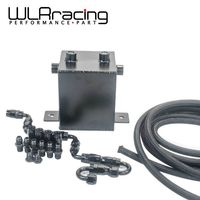 WLRING-2L Aluminium Surge tank Voll Schwarz brennstoffzellen 2L Universelle Komplette Brennstoffdruckausgleichbehälter 2L Schwalltopf-system WLR-TK31BK-W