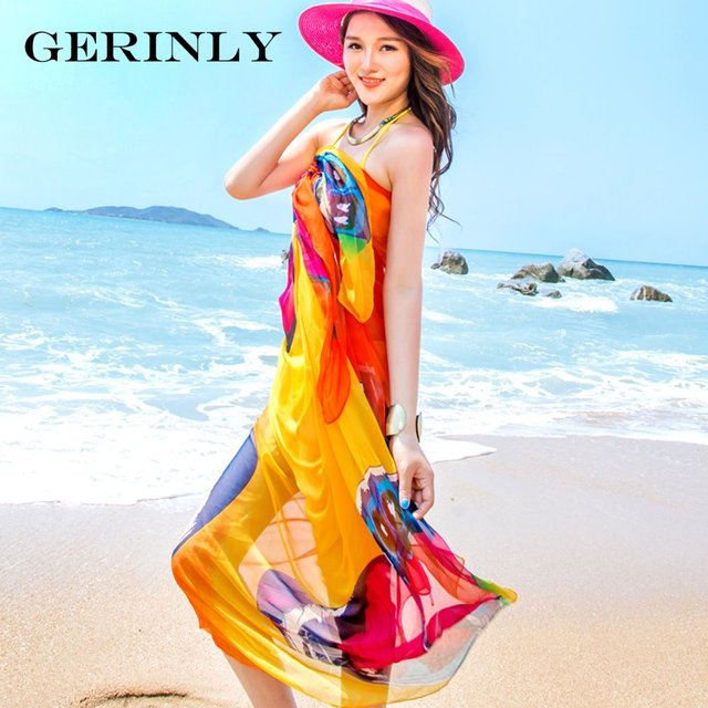 6466d3eb0d815 Scarves Sexy Women's Summer Chiffon Pareo Butterfly Print Swimsuit Beach  Cover Up Plus Size Sarong Dress Ladies Hijab Wrap Scarf