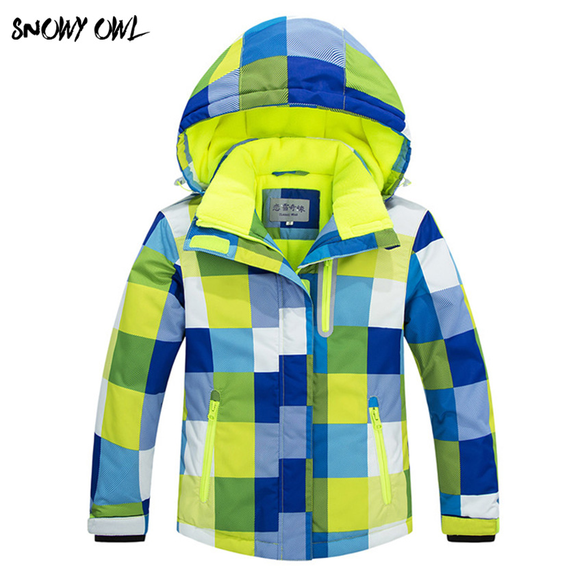Children Ski Jacket Boys and girls Warm Winter Skiing Snowboard Jackets Child Windproof Waterproof Outdoor Snow Coats Kids h130 vector warm winter ski jacket girls windproof waterproof children skiing snowboard jackets outdoor child snow coats kids