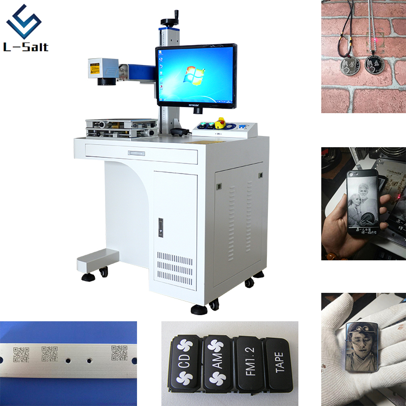 50w Laser Marking Machine For Jewelry Cutting Engraving Machine For Leather