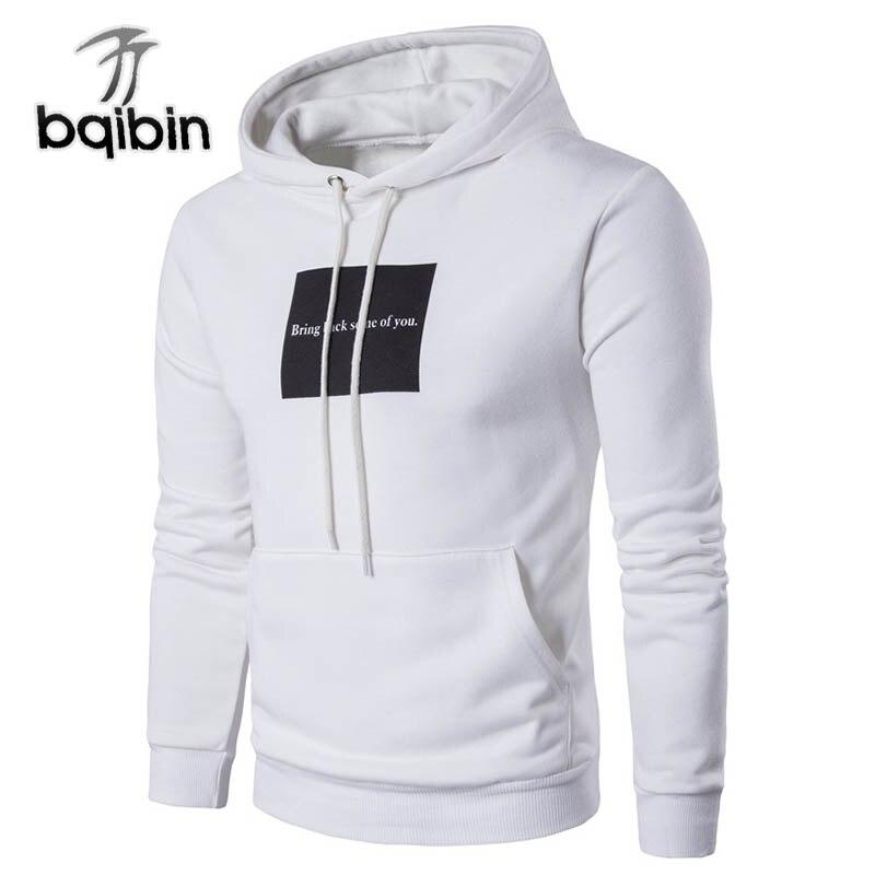 2018 New Fashion Hoodies Brand Men Letter Print Jacket Sweatshirt Male Hoody Hip Hop Autumn Winter Hooded Mens Pullover