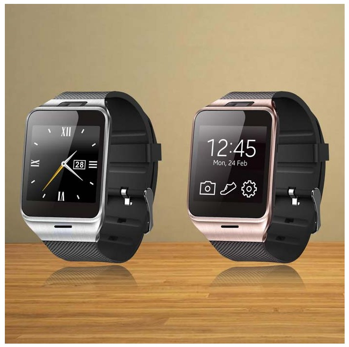 Hot sale font b Smartwatch b font Gv18 Health Pedometer Mp3 Waterproof Bluetooth Wearable Device With