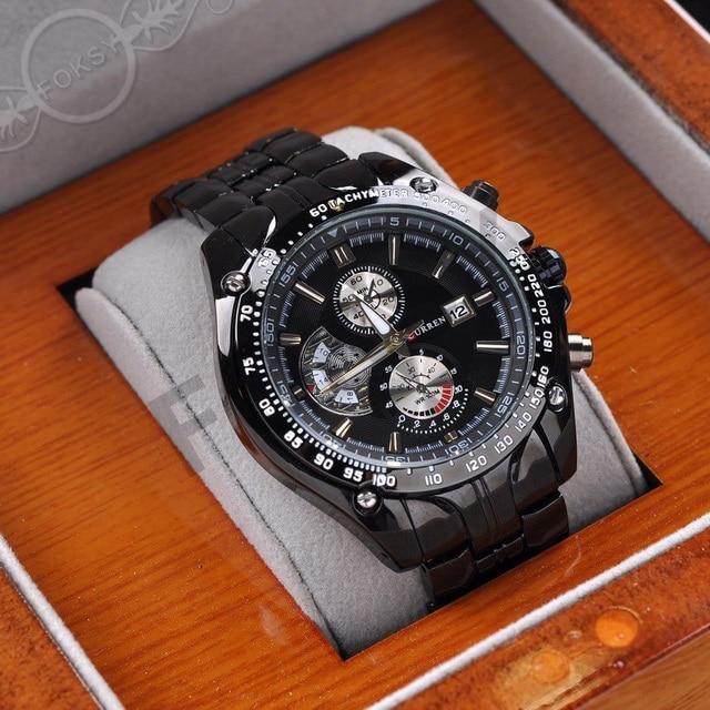 aliexpress com buy new curren brand luxury quartz analog men s new curren brand luxury quartz analog men s watches men full black stainless steel watch men black
