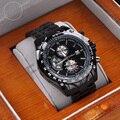 New curren marca de luxo de quartzo analógico relógios homens completo relógio de aço inoxidável preto dos homens dos homens relógios de pulso preto para o presente 830