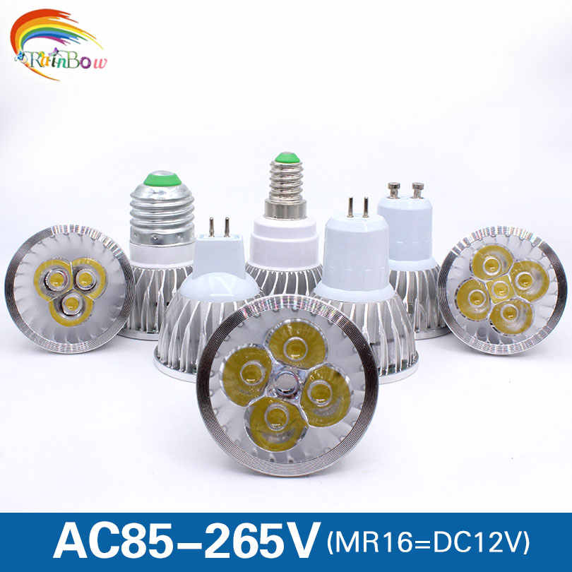 GU10 led spotlight E27 E14 GU5.3 LED Lamp 110V 220V 9W 12W 15W Bombillas High quality MR16 led light led Lampada LED Bulb