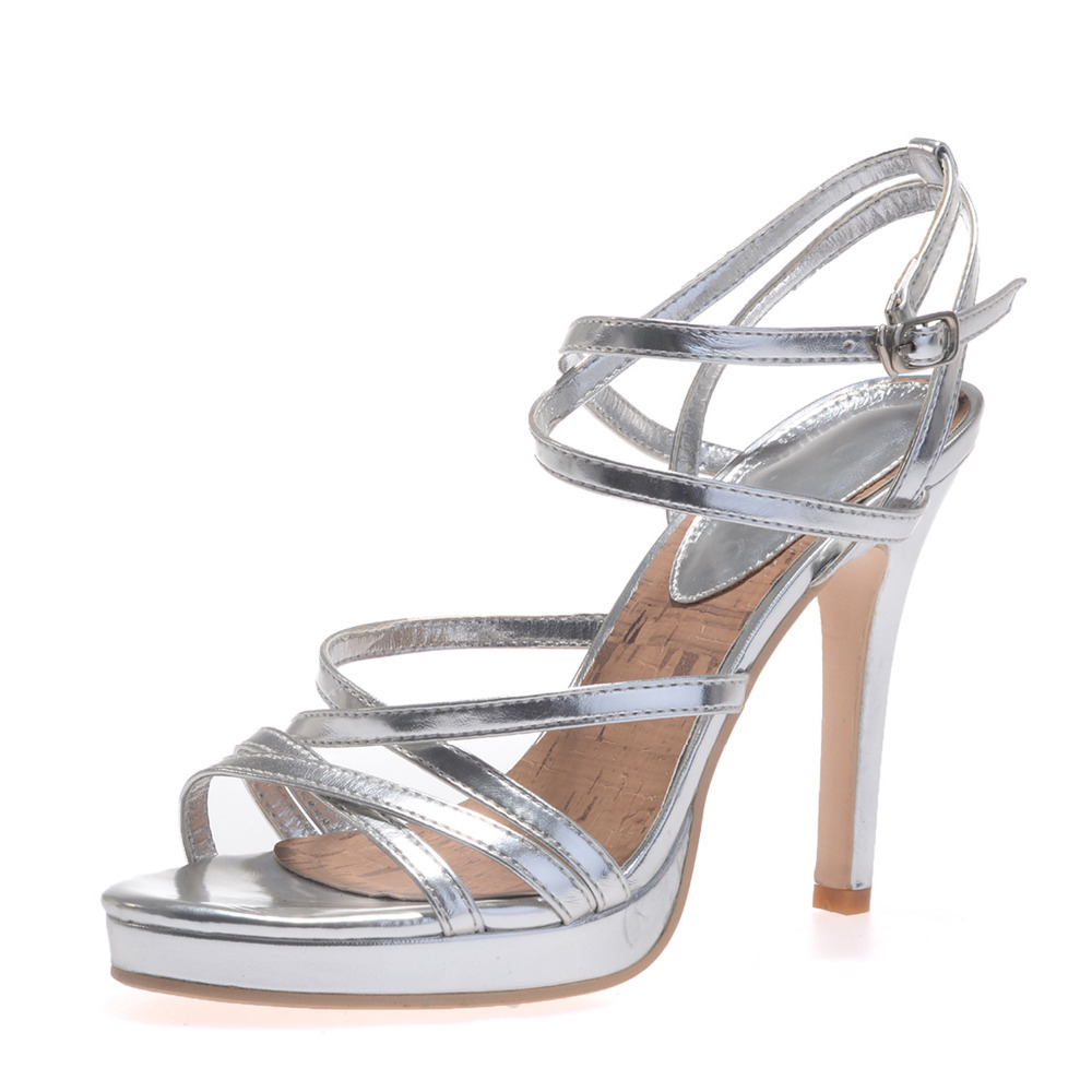 Metallic Silver Heels Promotion-Shop for Promotional Metallic ...