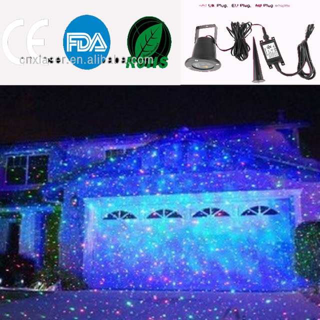 outdoor laser christmas light show projector with remote rg star projection shower for house party