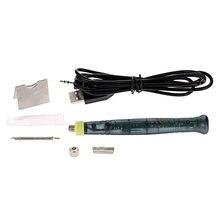 лучшая цена Soldering Iron Mini USB Electric Portable Soldering Gun with LED Indicator Hot Iron Welding High Quality Heating Tool 5V 8W