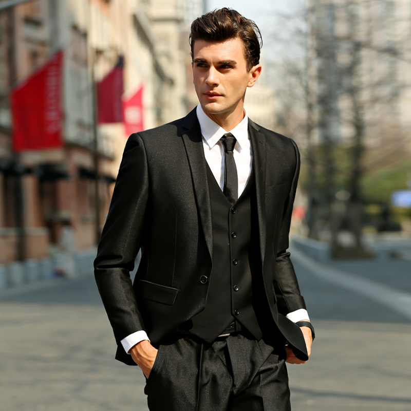Male Formal Wears Italian Wedding Suits Men Slim Business suit 3 ...