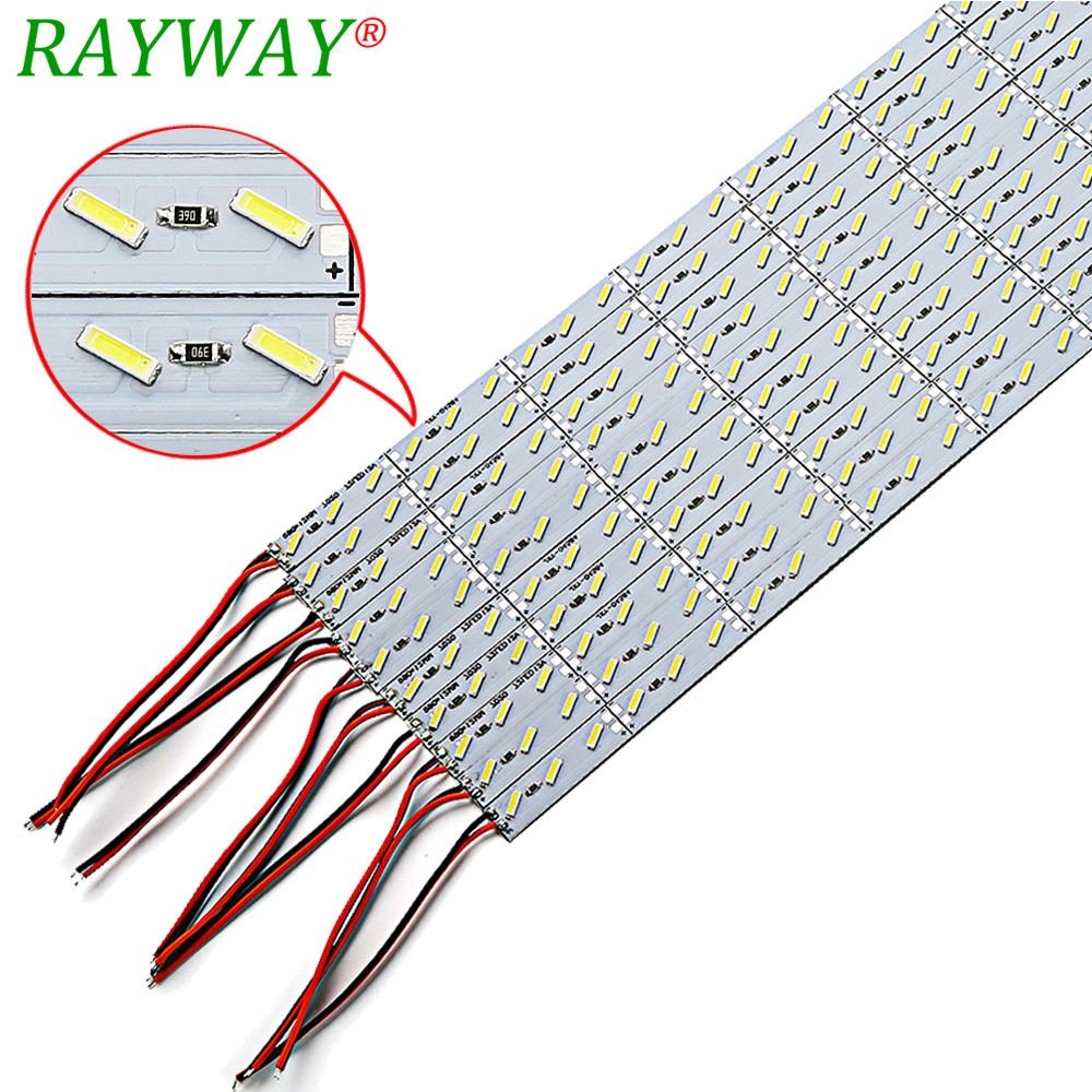 RAYWAY 10pcs / Lot 50cm Super Bright Hard Ridid LED Bar yüngül DC12V 36 led lampa SMD 8520 chip Alüminium lehimli Led Strip light Bar