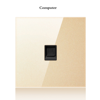 with USB Champagne Gold 1 2 3 4 Gang 1 Way 2 Way Glass Mirror Switch 86 type Wall Switch France Germany UK socket Household 15