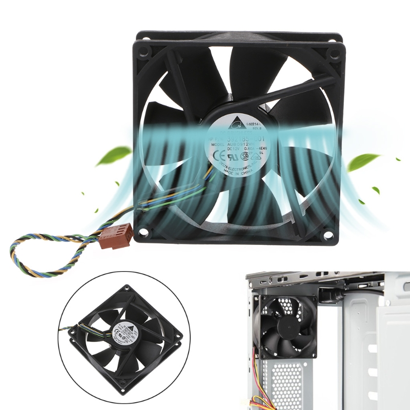 AUB0912VH 9cm 90mm P/N 372651-001 9225 DC 12V 0.60A 4-Pin PWM Cooling Fan-PC Friend cooling fan replacement d12bm 12d 4 pin connector pwm 12038 12v 2 3a 6000rpm for antminer bitmain s7 s9 useful