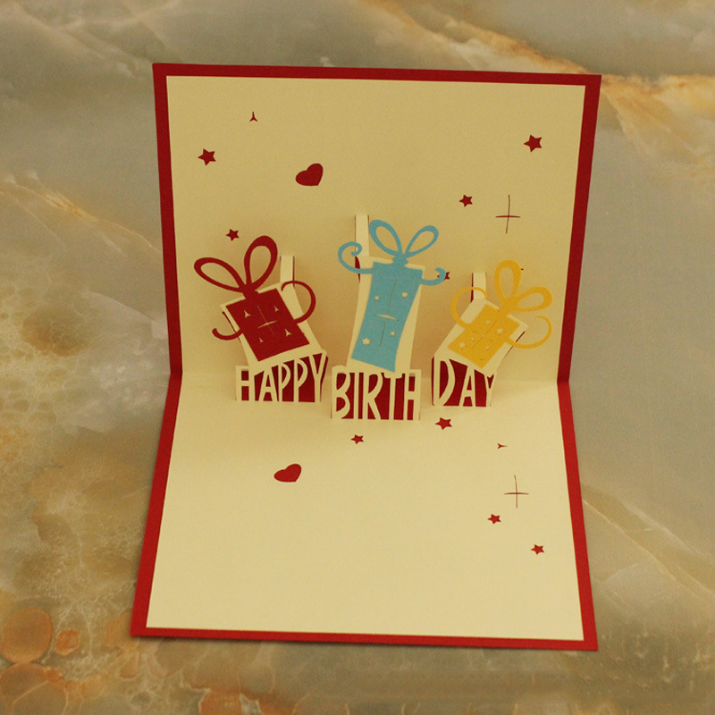 10 PieceslotThree Dimensional Greeting Cards Lovely