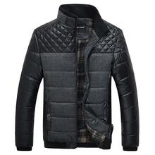 Классические Моды для Мужчин Теплые Куртки Плюс Размер L-4XL Лоскутная Плед Дизайн Молодой Человек Casaul Зимнее Пальто