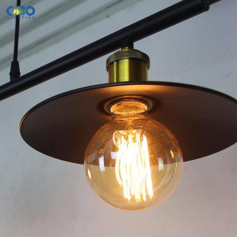 Винтажные железные подвесные лампы с 3 головками, американский бар, подвесные светильники, кофейня, для внутреннего освещения, провод E27, дер... - 5