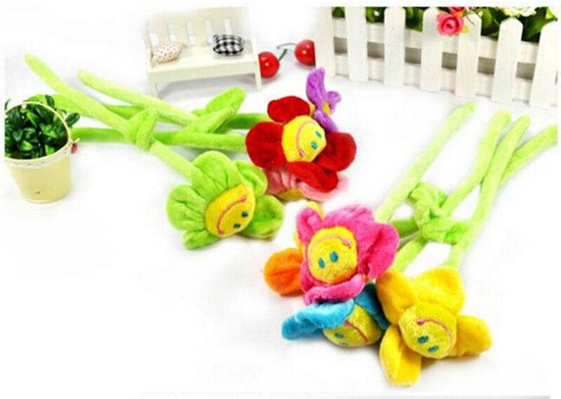 1pcs-35cm-Height-Cartoon-Plush-Sunflower-Curtain-Buckle-Simulation-Fabric-Flower-Home-Party-Wedding-Decoration-Creative-Gifts-2