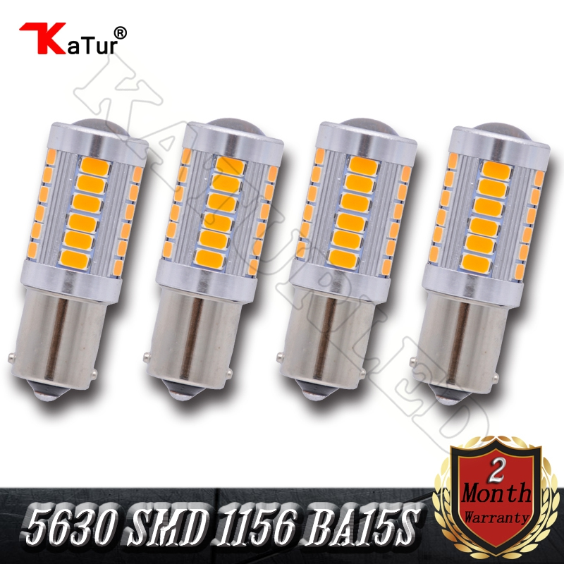 4 Pieces 5630 SMD 1156 BA15S P21W Led Car Light 33 LED Bulbs RV Camper Corner Stop Parking Backup Reserve Light White Red Amber