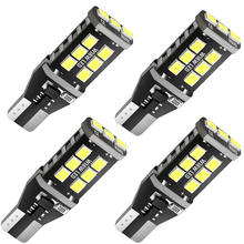 4pcs W16W T15 LED Bulbs 921 920 912 Canbus Error Free Backup Light 2835 15 SMD 6000K White Auto Car Reverse Parking Lamp DC 12V