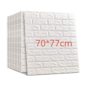 3D Brick Wall Stickers DIY Self Foam Waterproof Decor Wall Covering Wallpaper For TV Background Kids Living Room