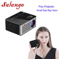 Salange T200 Pocket Mini Projector,Touch keys HDMI USB AV Video Game Projector LED Beamer Support Power Bank Charging