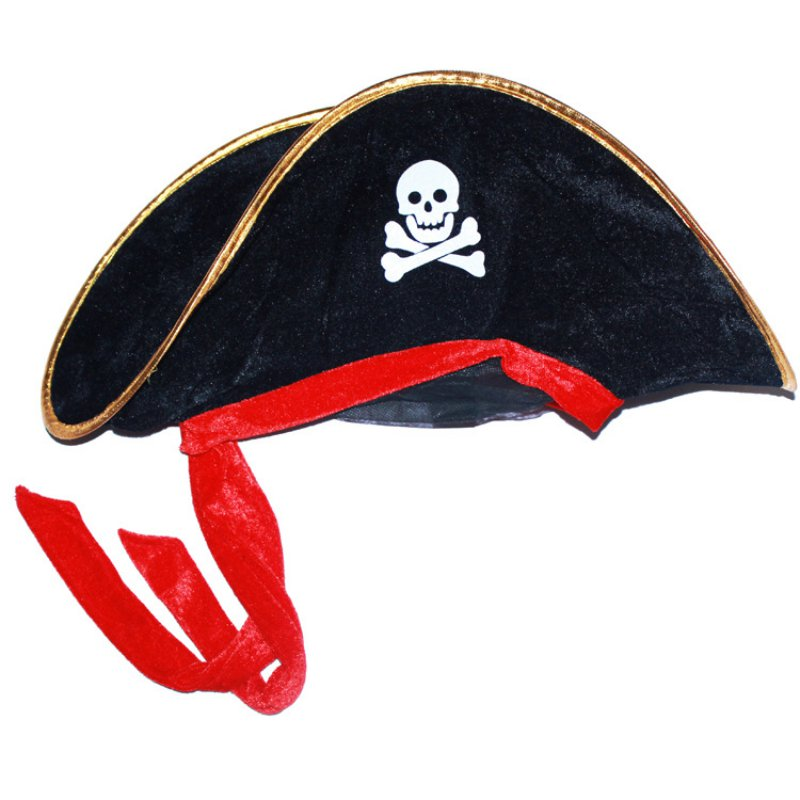 4be5d161e33 Supplies Halloween Masquerade Dance Performance Props Big Hat Accessories Hat  Skull Caribbean Pirate Hat