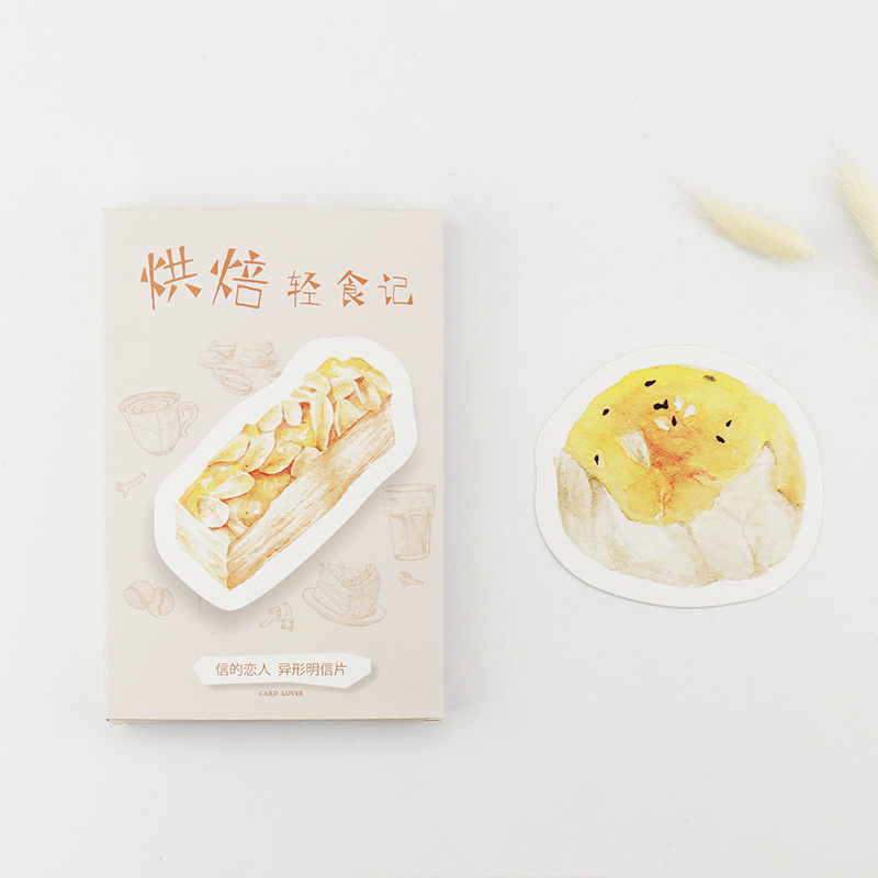 30 Sheets/Set Creative Cute Baked Food Postcard /Greeting Card/Message Card/Christmas And New Year Gifts