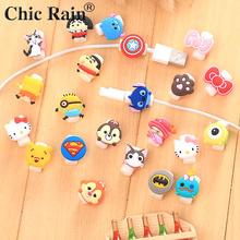 10pcs/lot Cartoon Cable Protector Data Line Cord Protector Protective Case Cable Winder Cover For iPhone USB Charging Cable cartoon cable protector data line cord protector protective case cable winder cover for iphone huawei samsung usb charging cable