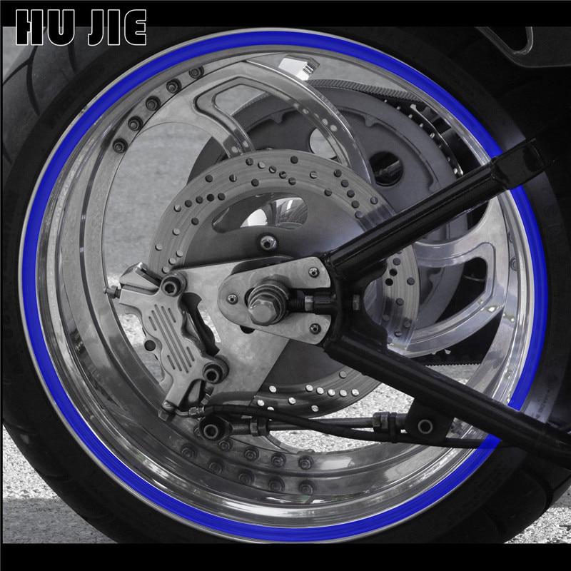 Strip Motorcycle Wheel Sticker Reflective Decals Rim Tape Bike Car Styling 16pcs