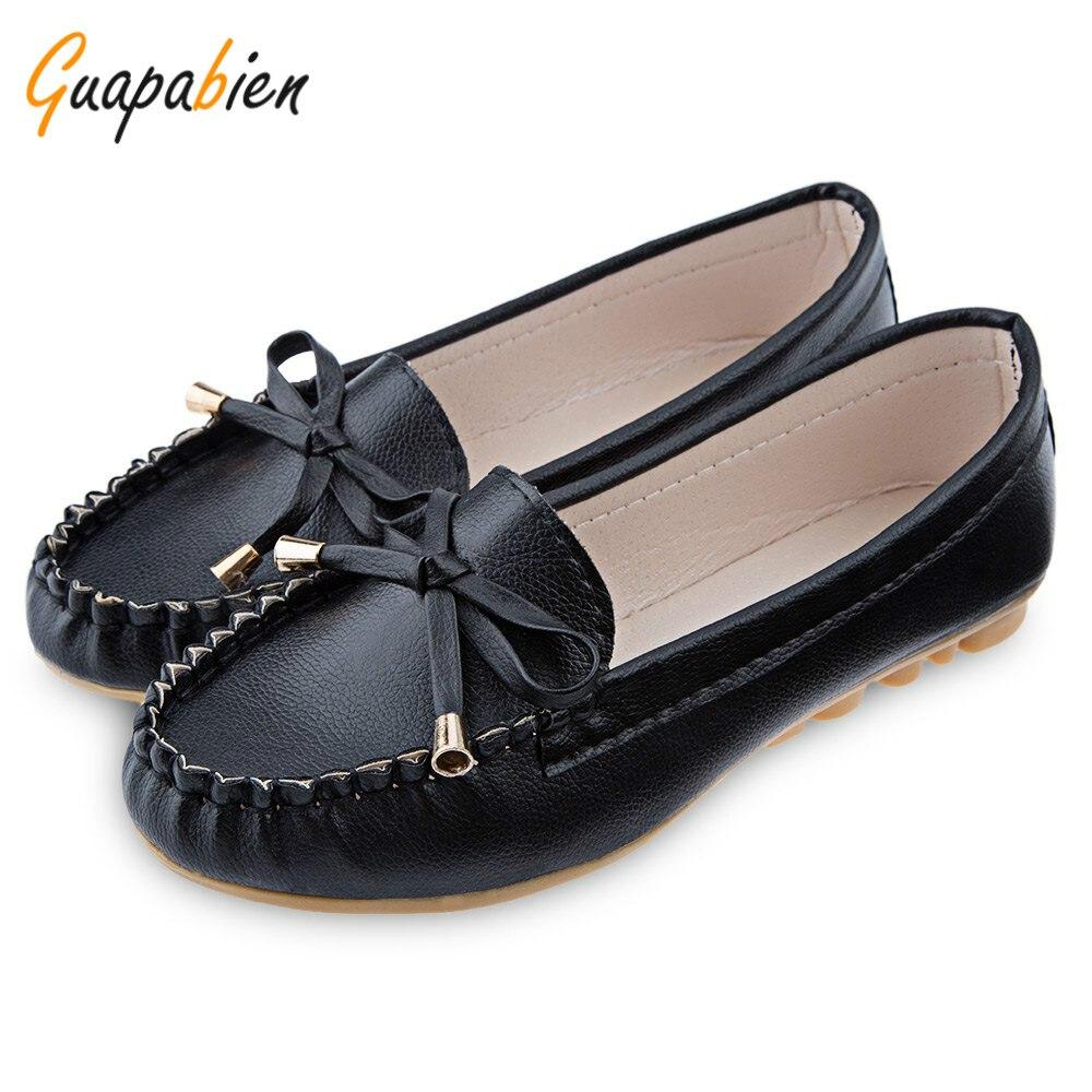 Guapabien 2016 plus size flat shoes solid color flats ...