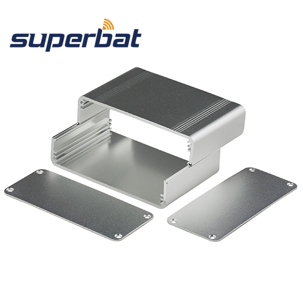 1.51″*3.45″*2.25″ Silver Extruded Aluminum Project Box Electronics Instrument Amplifier PCB Enclosure Case DIY 38.4*87.9*57.2mm