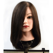 100% Real Human Hair Mannequin Head 20