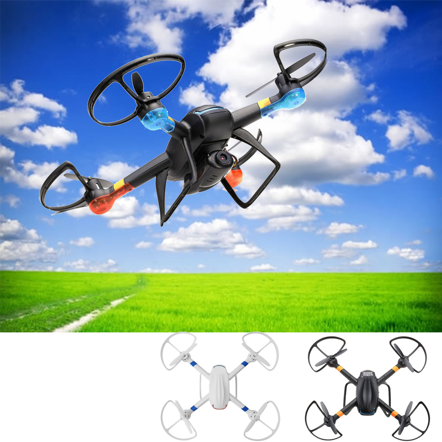 4 Channel 6-Axis 2.4GHz LED Light RC Gyro Drone Quadcopter Helicopter Toy with 2