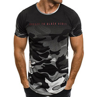 2018 New Brand clothing Gyms Tight t-shirt mens fitness t-shirt camouflage Gyms t shirt men fitness crossfit Summer top