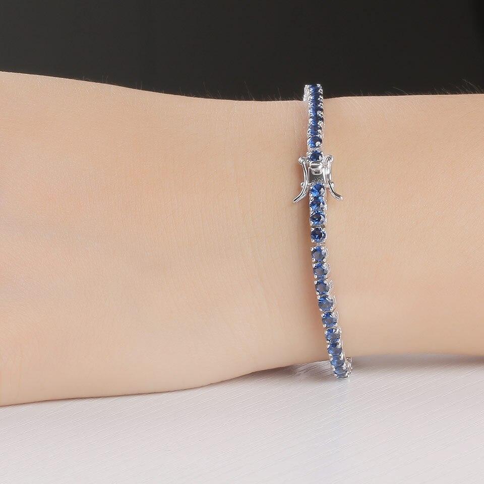 925 sterling silver sapphire bracelet for women (8)
