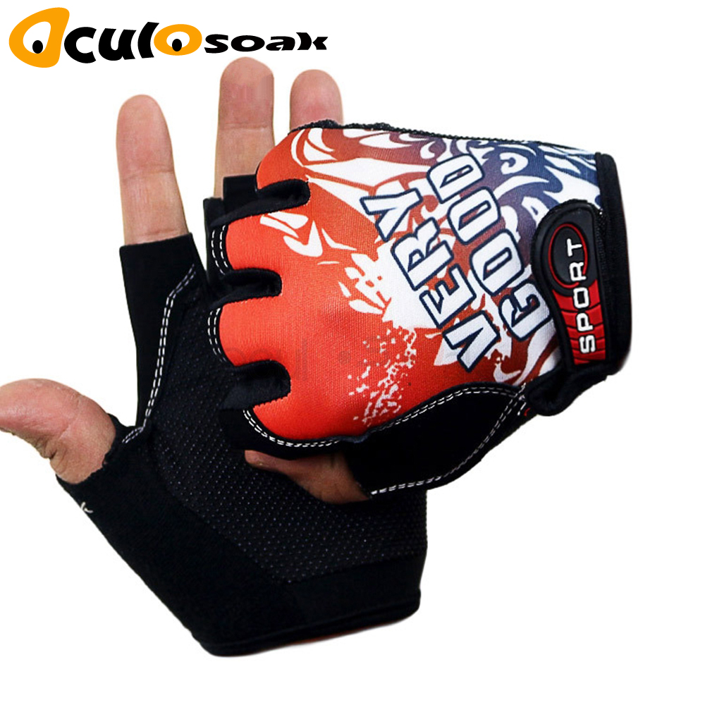 Classic Sports Gloves Semi-finger Outdoor Mittens Very Good Letters Fingerless Gloves Gym Men Women Work Out Guantes