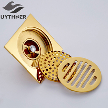 Uythner dreno de assoalho, ralo de banheiro com 10*10cm, praça de chuveiro, venda direta de fábrica
